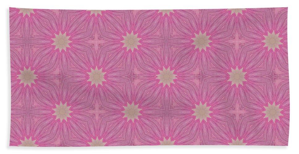 Abstract Beach Towel featuring the mixed media Hot Pink by Georgiana Romanovna