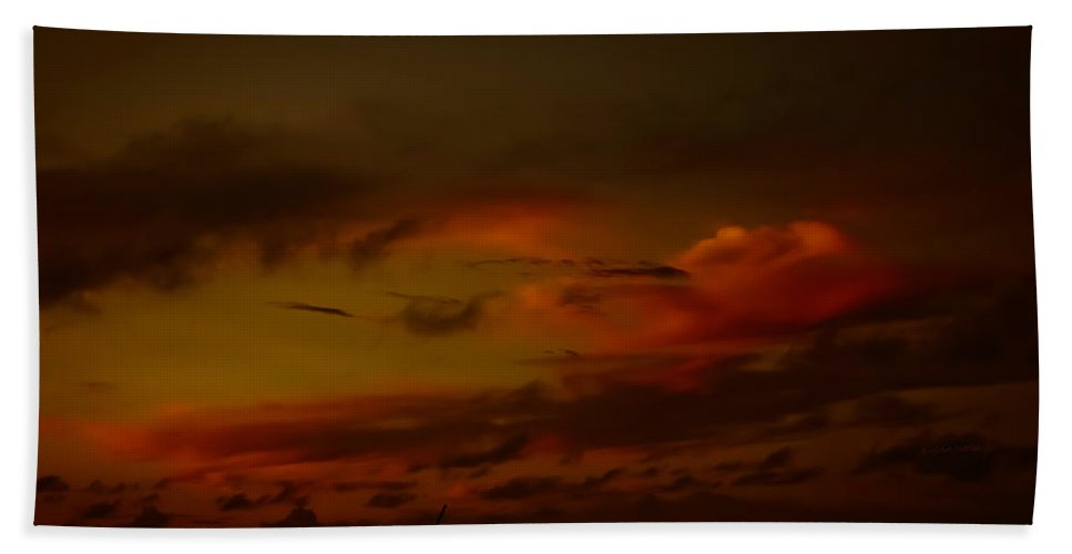 Clouds Beach Towel featuring the photograph Hot Summer Night Sky by DigiArt Diaries by Vicky B Fuller