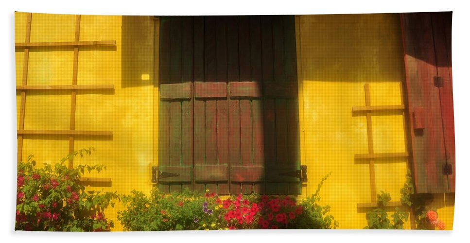 Fine Art Photography Beach Towel featuring the photograph House Of Yellow by David Lee Thompson