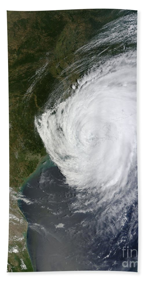 Vertical Beach Towel featuring the photograph Hurricane Isaac Makes Its Second by Stocktrek Images