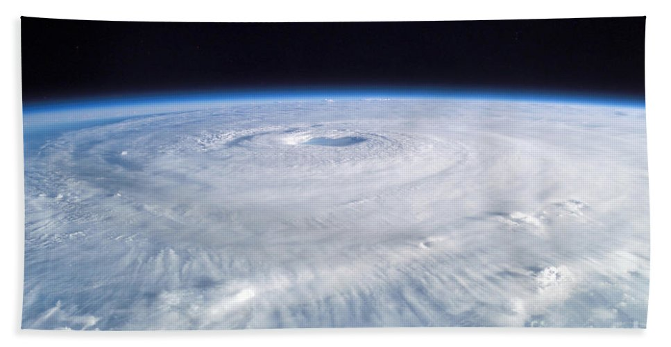 Color Image Beach Towel featuring the photograph Hurricane Isabel by Stocktrek Images