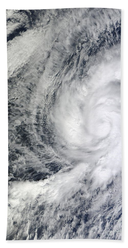 Meteorology Beach Towel featuring the photograph Hurricane Kenneth Off The Coast by Stocktrek Images