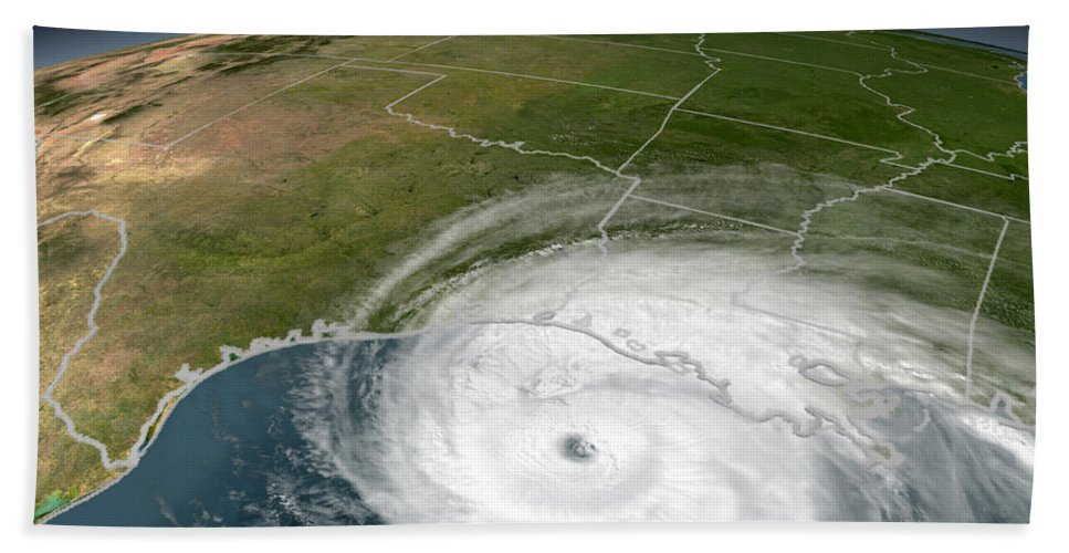 Alabama Beach Towel featuring the photograph Hurricane Rita by Stocktrek Images