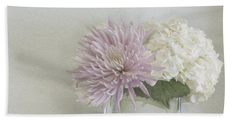 Hydrangea Beach Towel featuring the photograph Hydrangea And Mum by Cindy Garber Iverson