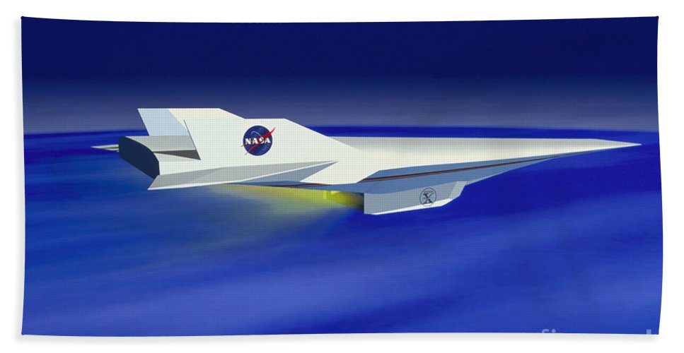 Art Beach Towel featuring the photograph Hyper-x Hypersonic Aircraft by Science Source