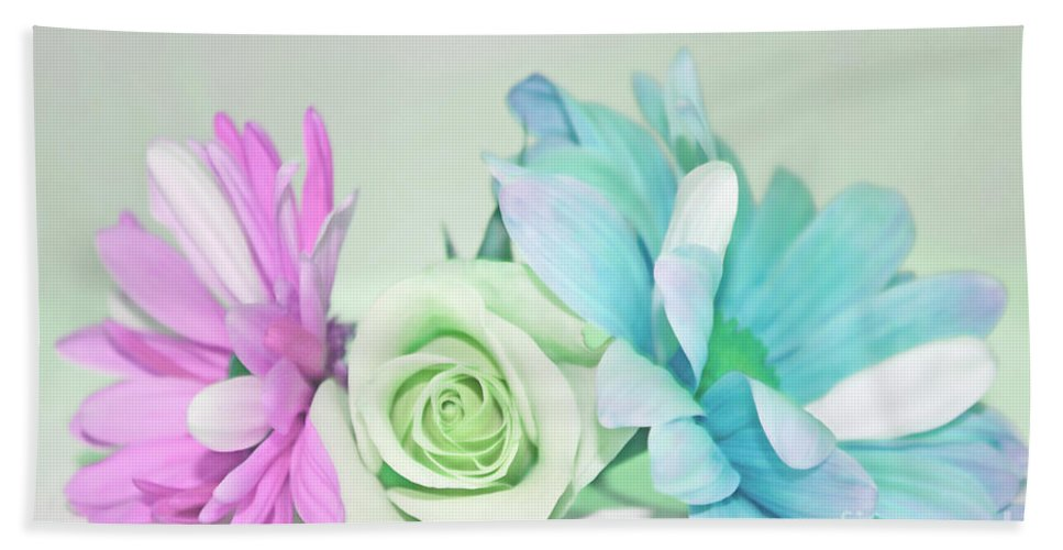 Cottage Chic Beach Towel featuring the photograph I Dream Of Flowers by Traci Cottingham