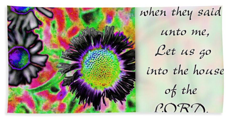 Flowers Beach Towel featuring the digital art I Was Glad by Debbie Portwood