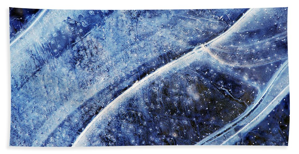 Ice Beach Towel featuring the photograph Ice Blue by Sharon Talson