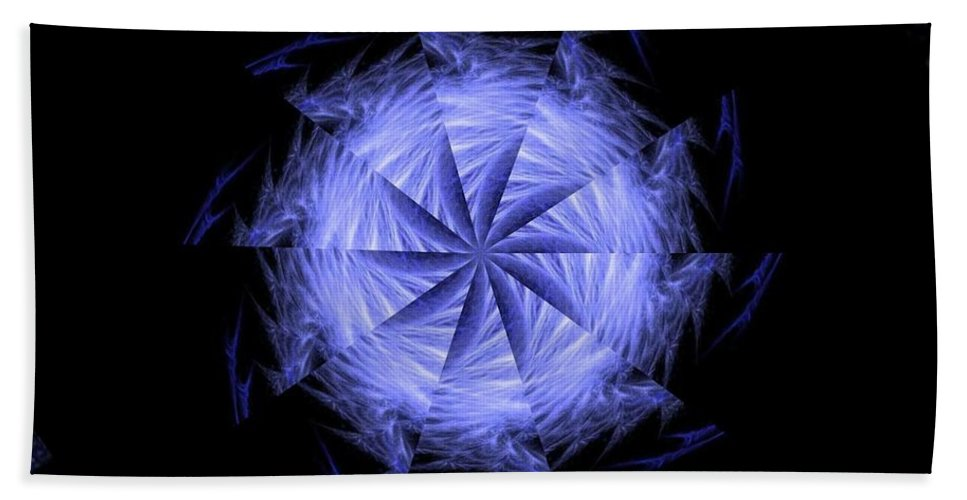 Digital Beach Towel featuring the digital art Ice Wheel by Rhonda Barrett