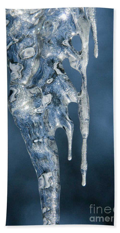 Bronstein Beach Towel featuring the photograph Icicle Formation by Sandra Bronstein
