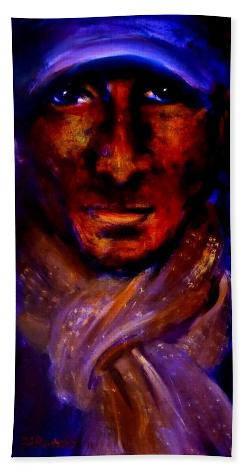 Immigrant Beach Towel featuring the painting Immigrant by Jason Reinhardt
