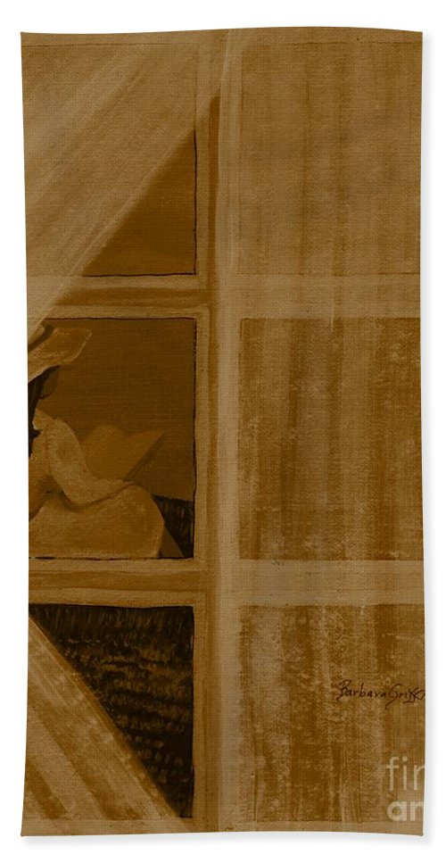 In Another Time Beach Towel featuring the painting In Another Time by Barbara Griffin