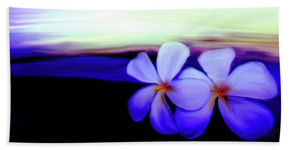 In The Evening Beach Towel featuring the photograph In The Evening by Linda Sannuti