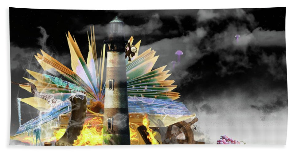 Books Beach Towel featuring the digital art In Your Imagination by Adam Vance
