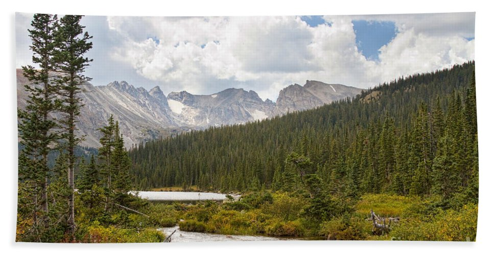 'brainard Lake' Beach Towel featuring the photograph Indian Peaks Summer Day by James BO Insogna