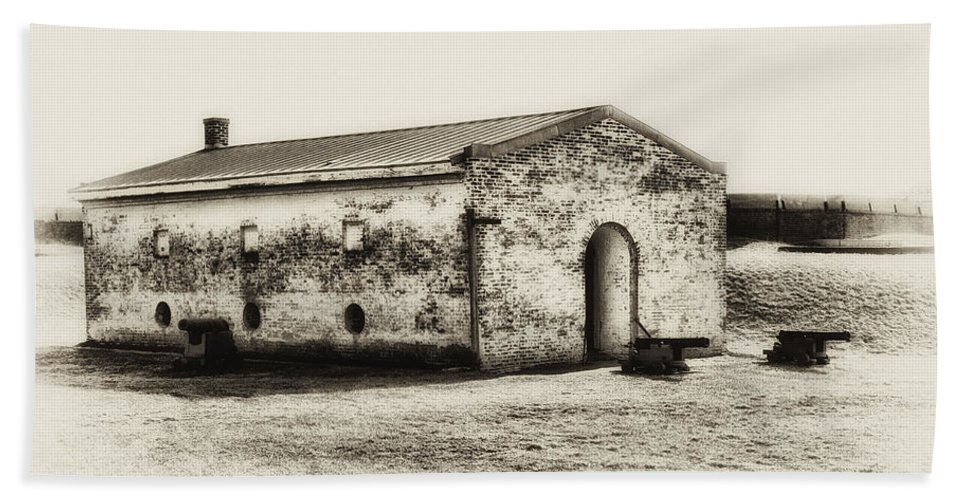 Fort Beach Towel featuring the photograph Inside Fort Mifflin - Phildalphia by Bill Cannon