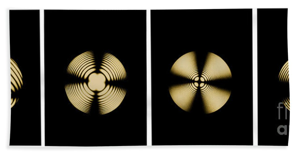 Airy Spiral Beach Towel featuring the photograph Interference Patterns by Omikron