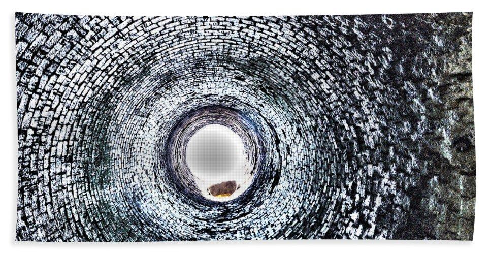 Smokestacks Beach Towel featuring the photograph Into The Unkown by Glenn Gordon