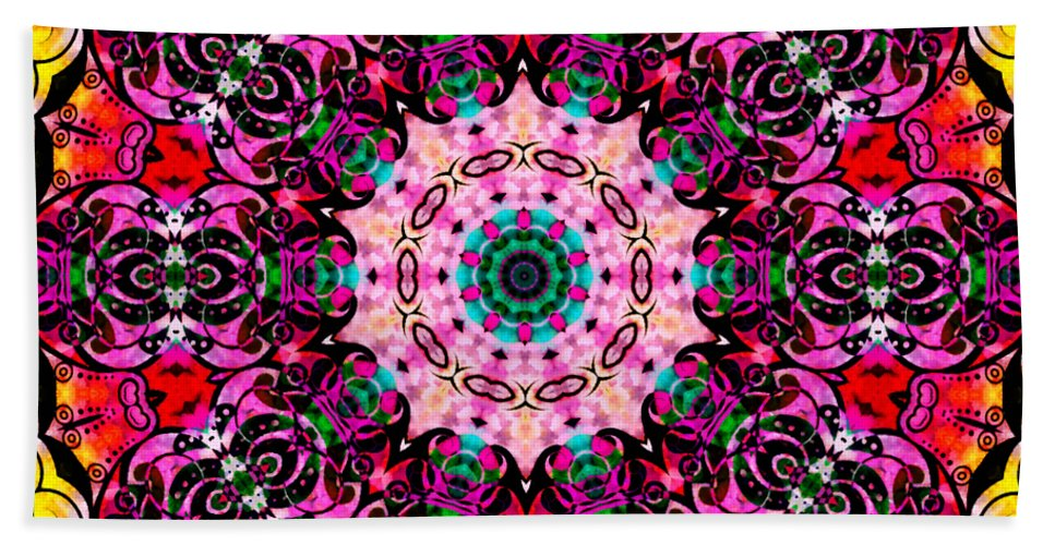 Summer Beach Towel featuring the mixed media Introspection 3 by Angelina Vick
