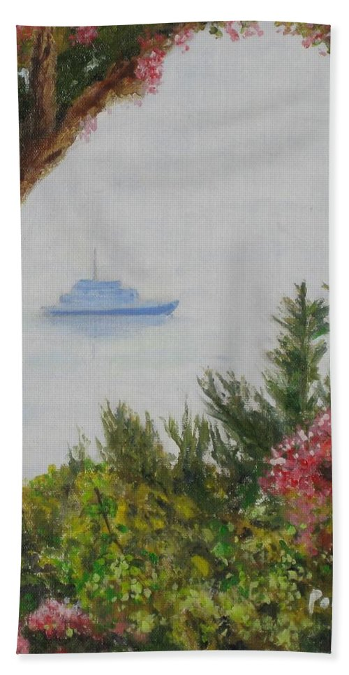 Ischia Beach Towel featuring the painting Ischia by Paintings by Parish
