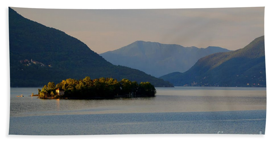 Island Beach Towel featuring the photograph Island And Mountain by Mats Silvan