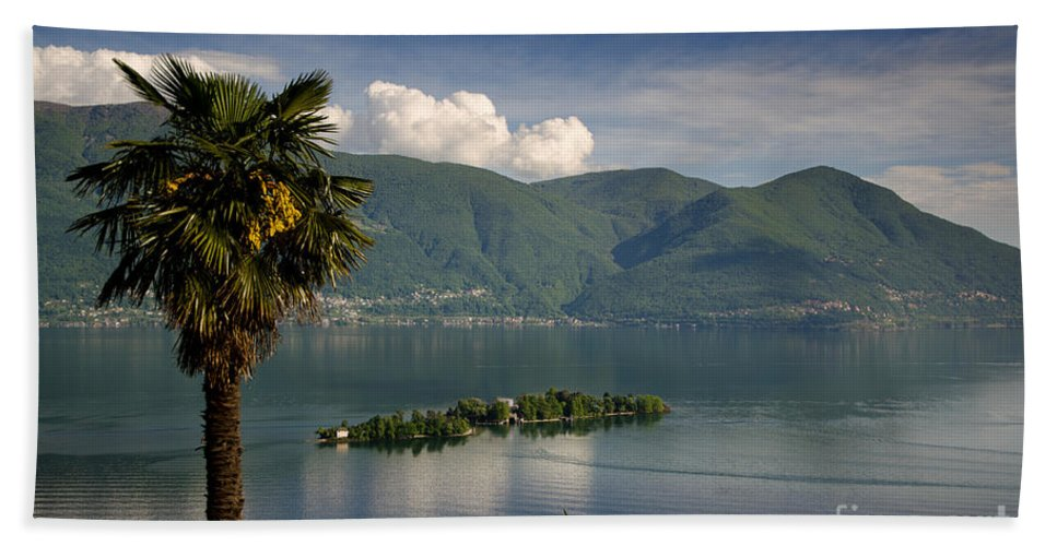 Island Beach Towel featuring the photograph Islands On An Alpine Lake by Mats Silvan