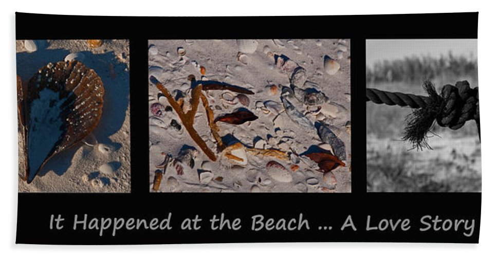 Triptograph Beach Towel featuring the photograph It Happened At The Beach by Christine Stonebridge