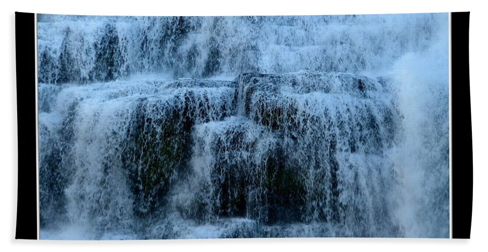 Ithaca Falls Beach Towel featuring the photograph Ithaca Falls New York Closeup by Rose Santuci-Sofranko