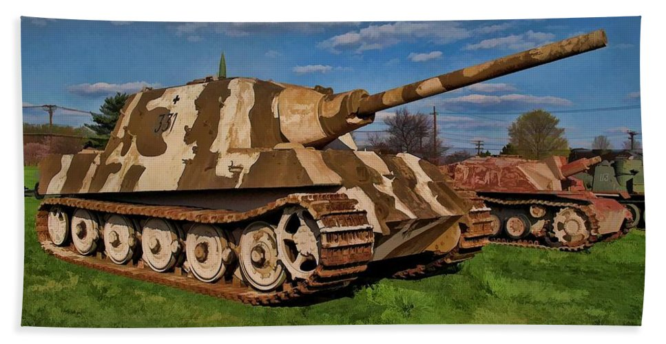 German Beach Towel featuring the photograph Jagdtiger Sd. Kfz by Tommy Anderson