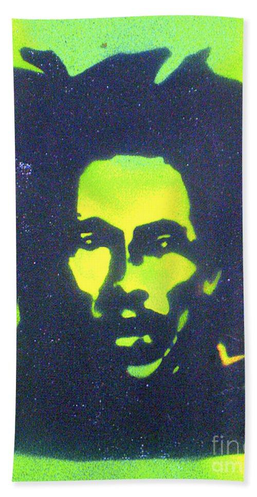 Hip Hop Beach Towel featuring the painting Jamaica X Jamaica by Tony B Conscious