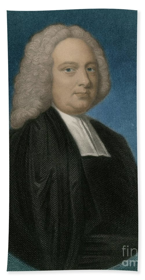1700s Beach Towel featuring the photograph James Bradley, English Astronomer by Science Source
