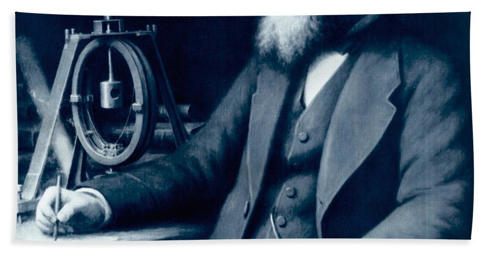 James Clerk Maxwell Beach Towel featuring the photograph James Clerk Maxwell, Scottish Physicist by Science Source