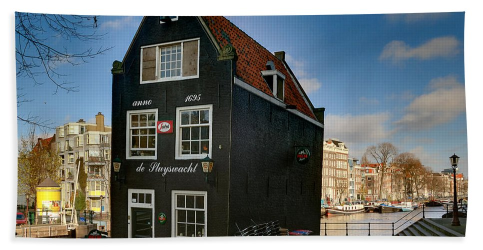 Holland Amsterdam Beach Towel featuring the photograph Jodenbreestraat 1. Amsterdam by Juan Carlos Ferro Duque