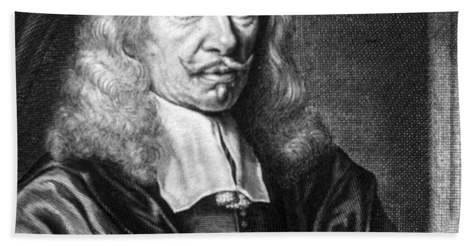 Science Beach Towel featuring the photograph Johannes Hevelius, Polish Astronomer by Science Source