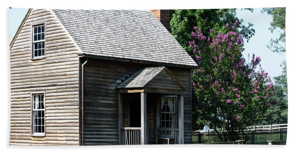 Appomattox Beach Towel featuring the photograph Jones Law Office Appomattox Court House Virginia by Teresa Mucha