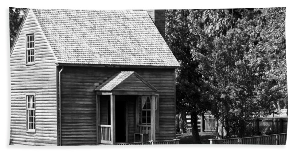 Appomattox Beach Towel featuring the photograph Jones Law Office Appomattox Virginia by Teresa Mucha