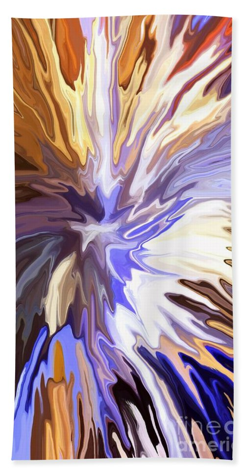 Abstract Beach Towel featuring the mixed media Just Abstract Iv by Chris Butler