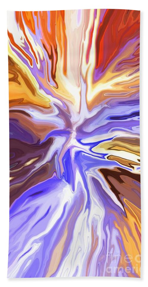 Abstract Beach Towel featuring the mixed media Just Abstract V by Chris Butler