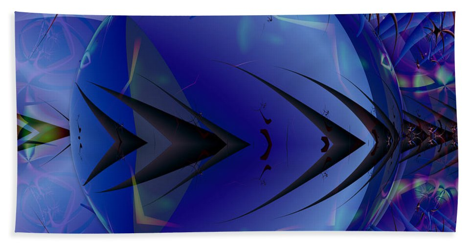 Ultra Fractal Beach Towel featuring the digital art Just An Ultra Fractal Bubble by Mario Carini
