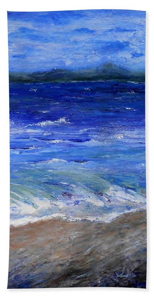 Beach Beach Towel featuring the painting Just Beachy Redo by Jamie Frier
