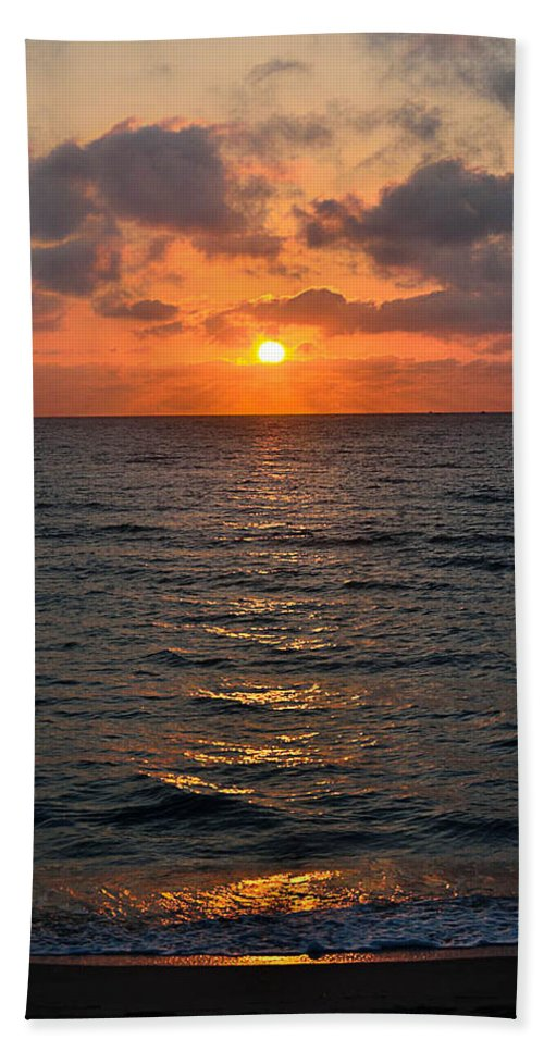 Key West Horizon Beach Towel featuring the photograph Key West Sunrise by MLP Photography