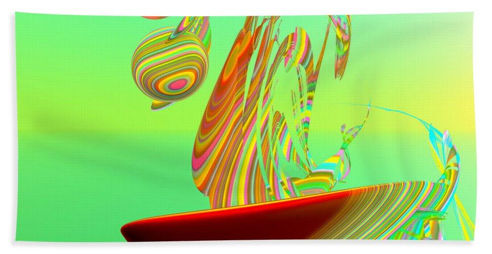 Fractal Beach Towel featuring the digital art Killer Wave by Betsy Knapp