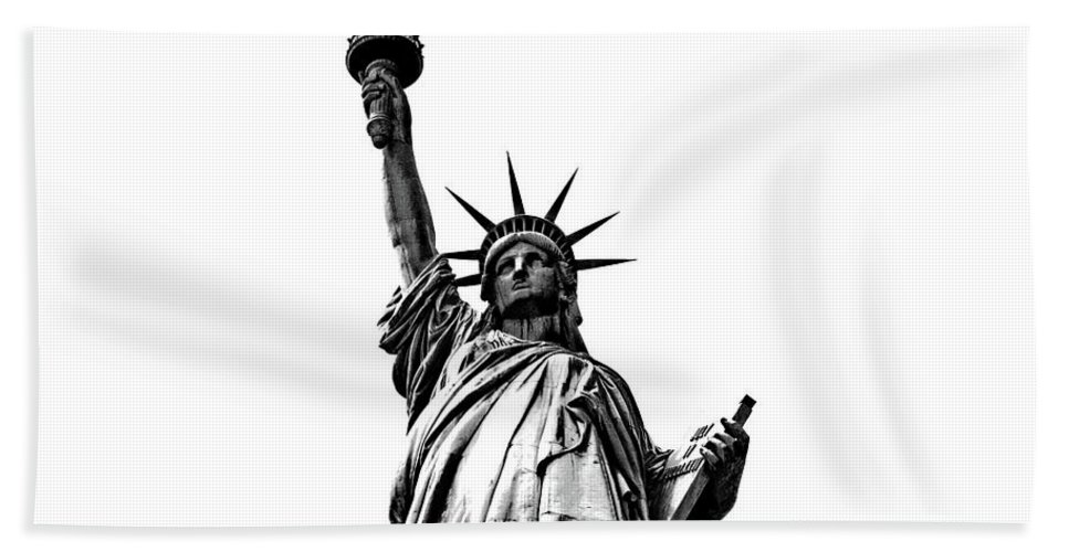 Statue Of Liberty Beach Towel featuring the photograph Lady Liberty by La Dolce Vita