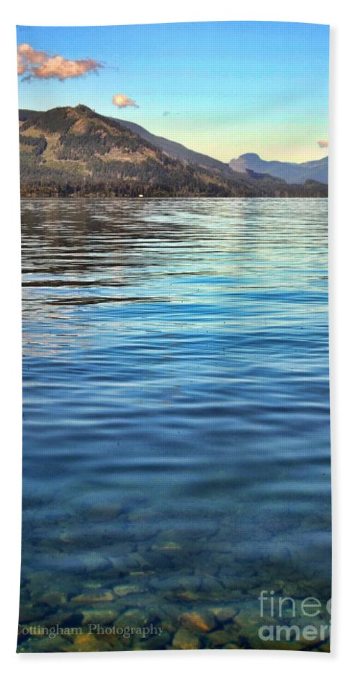 British Columbia Beach Towel featuring the photograph Lake Cowichan Bc by Traci Cottingham