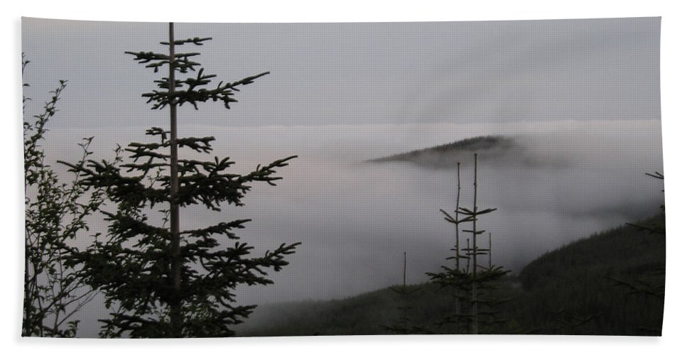 Fog Beach Towel featuring the photograph Lake Of Low Clouds by Catherine Helmick