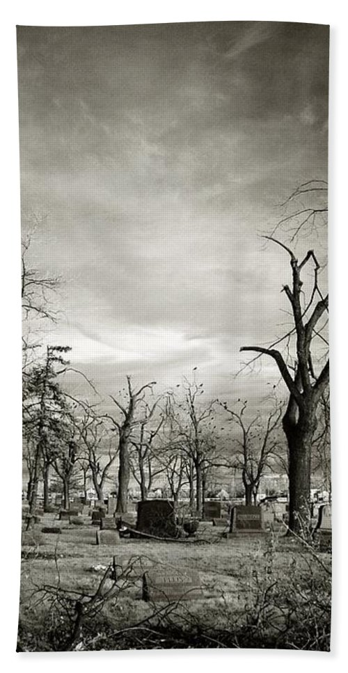 Infrared Beach Towel featuring the photograph Land Of The Lost Spirits by Gothicrow Images