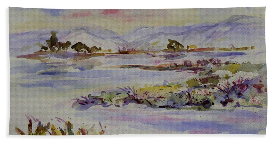 Impression Beach Towel featuring the painting Landscape 5 by Xueling Zou