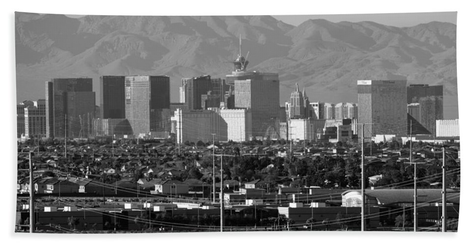 Southwest Beach Towel featuring the photograph Las Vegas Suburbs by Julie Niemela