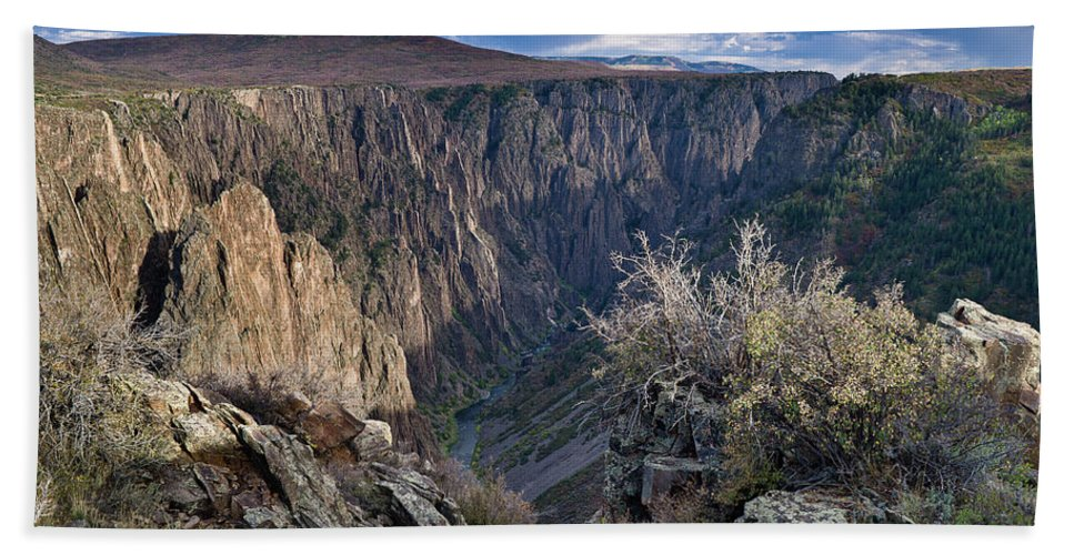Black Canyon Of The Gunnison Beach Towel featuring the photograph Late Afternoon At Black Canyon Of The Gunnison by Greg Nyquist