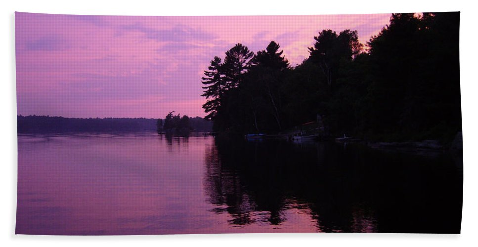 Sunset Beach Towel featuring the photograph Lavender Lake by Shirley Radebach